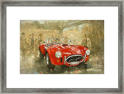 Cobra At Brooklands Framed Print by Peter Miller