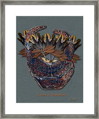 Cobra Basket Framed Print by Jerry White
