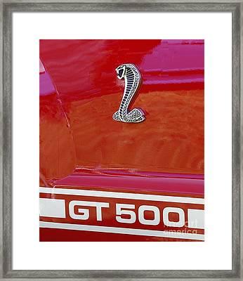 Cobra Gt 500 Emblem Framed Print