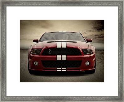 Cobra Red Framed Print