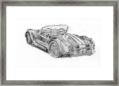 Cobra Sketch Framed Print