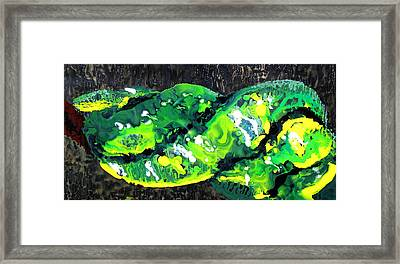 Cobra Verde Framed Print by Jess Thorsen