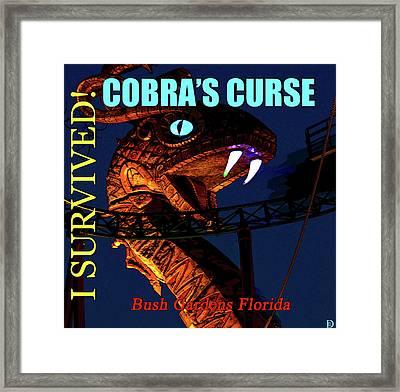 Cobras Curse Survivor Poster Framed Print