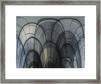 Cobweb Cathedral Framed Print by Luc Vangindertael