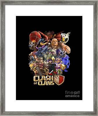 Coc Troops Framed Print
