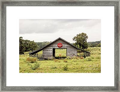 Coca Cola Barn Framed Print
