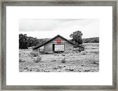Coca Cola Barn - Selective Color Framed Print
