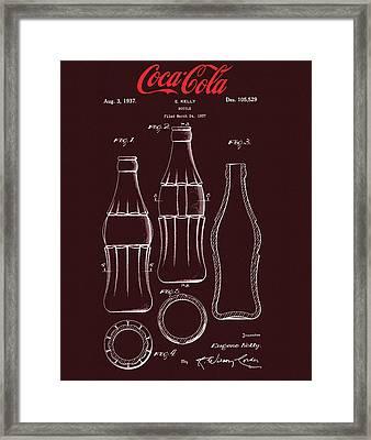 Coca Cola Bottle Design Framed Print