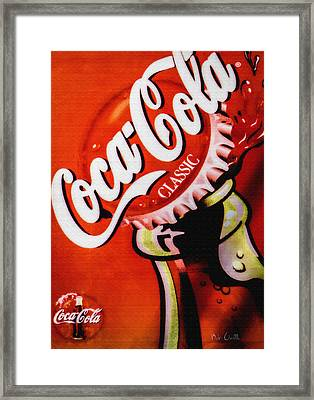 Coca Cola Classic Framed Print by Bob Orsillo