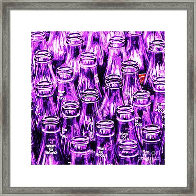 Coca-cola Coke Bottles - Return For Refund - Square - Painterly - Violet Framed Print by Wingsdomain Art and Photography