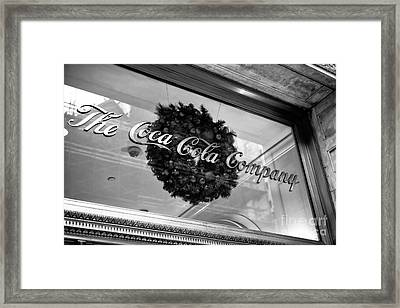Coca Cola Company On 5th Avenue Framed Print