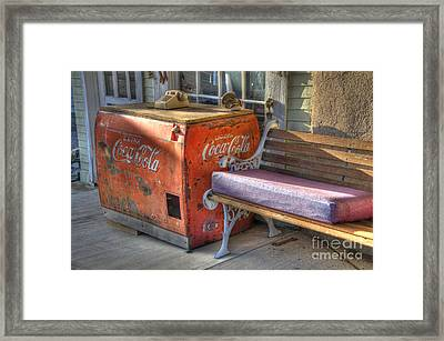 Coca Cola Cooler Back In Time Framed Print by Bob Christopher