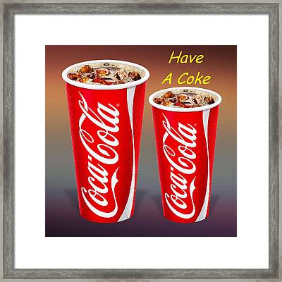 Coca Cola Customized  Framed Print by Movie Poster Prints