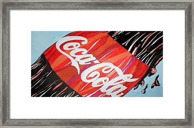 Coca Cola Fan Art Framed Print