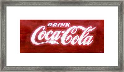 Coca Cola Framed Print by Heidi Smith