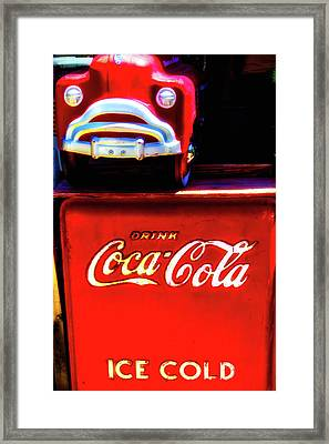 Coca Cola Ice Cold Framed Print