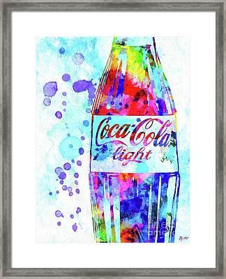Coca Cola Light Framed Print