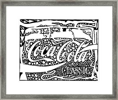 Coca-cola Maze Advertisement  Framed Print by Yonatan Frimer Maze Artist