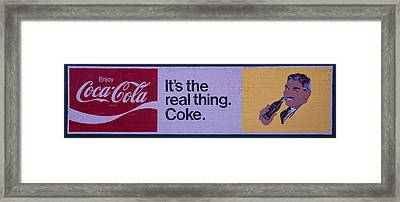 Coca-cola Painted Sign Framed Print by Chris Flees