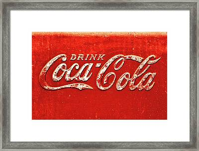 Coca Cola Rustic Framed Print by Stephen Anderson