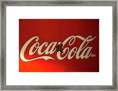 Framed Print featuring the photograph Coca-cola Sign  by Toni Hopper