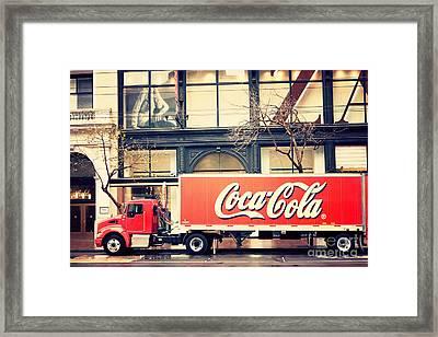 Coca-cola Truck In San Francisco Framed Print