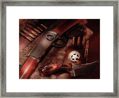 Cochise County Sheriff Framed Print by Daniel Alcocer