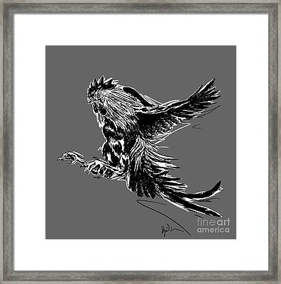 Cock Bw II Transparant Framed Print