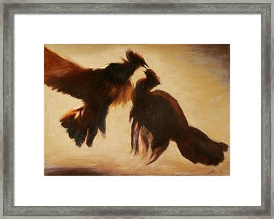 Cock Fight Framed Print by James LeGros