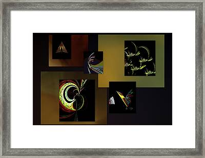 Framed Print featuring the digital art Cock Of The Walk by Irma BACKELANT GALLERIES