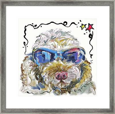 Cockapoo Dog Painting By Kim Guthrie Framed Print