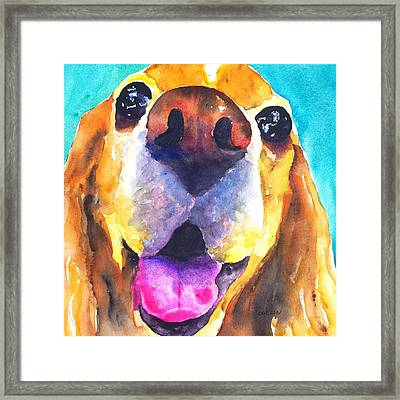 Cocker Spaniel Dog Smile Framed Print