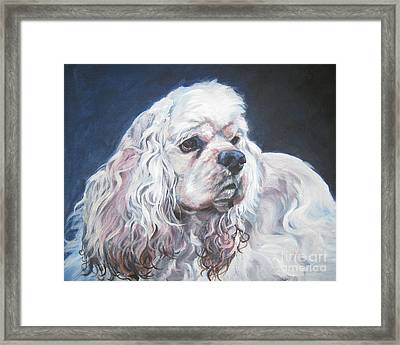 Cocker Spaniel  1 Framed Print by Lee Ann Shepard