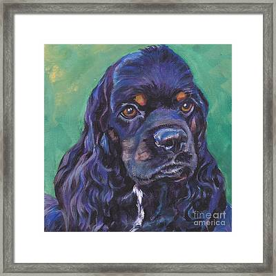 Cocker Spaniel Head Study Framed Print by Lee Ann Shepard
