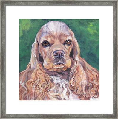 Cocker Spaniel Framed Print by Lee Ann Shepard