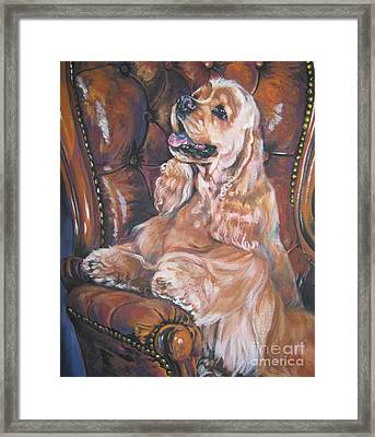 Cocker Spaniel On Chair Framed Print by Lee Ann Shepard