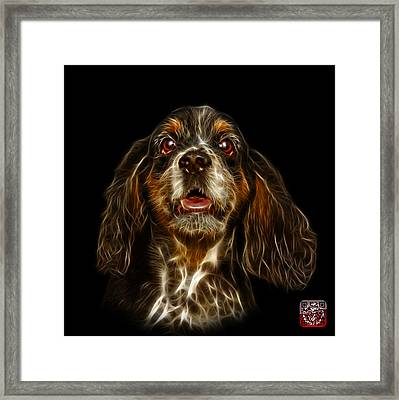 Framed Print featuring the mixed media Cocker Spaniel Pop Art - 8249 - Bb by James Ahn