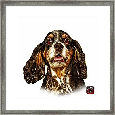 Cocker Spaniel Pop Art - 8249 - Wb Framed Print