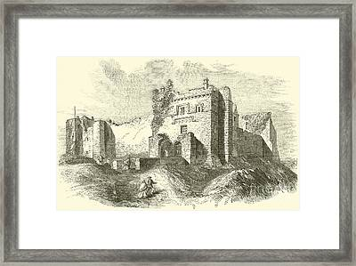 Cockermouth Castle Framed Print by English School