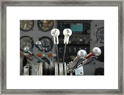Cockpit Controls Framed Print by Dan Holm