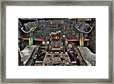 Cockpit Controls Hdr Framed Print