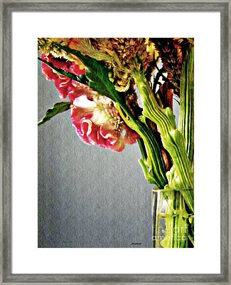 Framed Print featuring the photograph Cockscomb Bouquet 5 by Sarah Loft