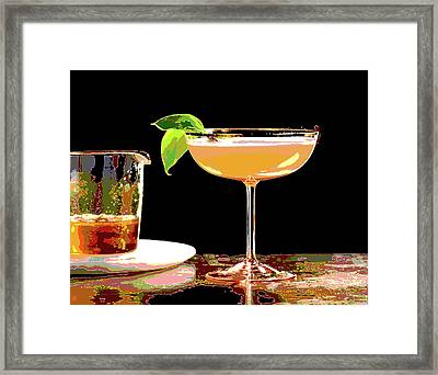 Cocktail And Dreams Framed Print by Charles Shoup