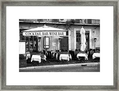 Cocktail And Wine Bar Framed Print by John Rizzuto