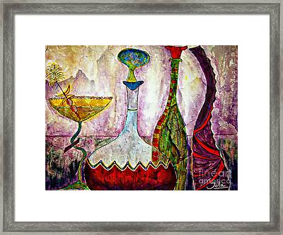 Cocktail And Wine Framed Print