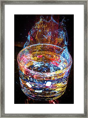 Cocktail Chip Framed Print by Mark Dunton