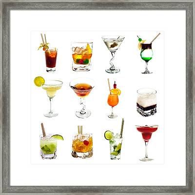Cocktail Collection Framed Print by Boyan Dimitrov