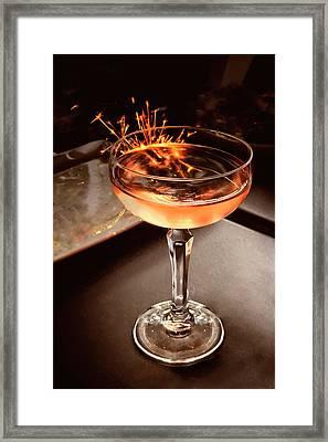 Cocktail Dazzle Framed Print