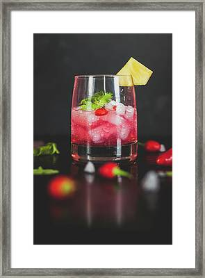 Cocktail Framed Print by Happy Home Artistry