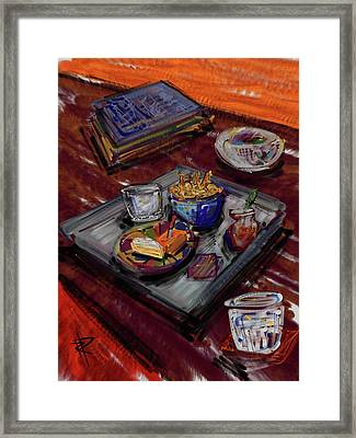 Cocktail Hour Framed Print by Russell Pierce